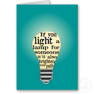 If you light a lamp
