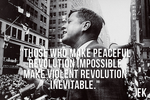 JFK Photo and Quote about Peace
