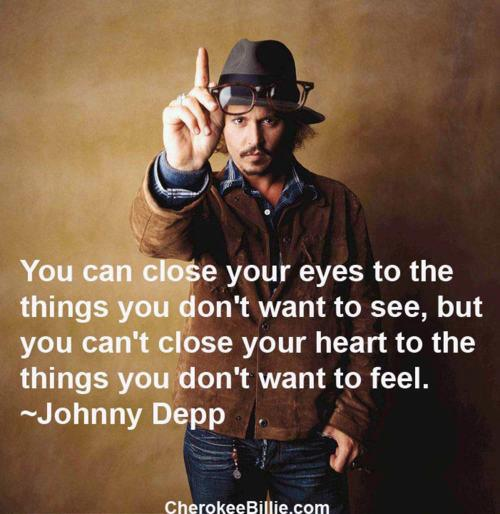 Johnny Depp Gives Insight to Feelings